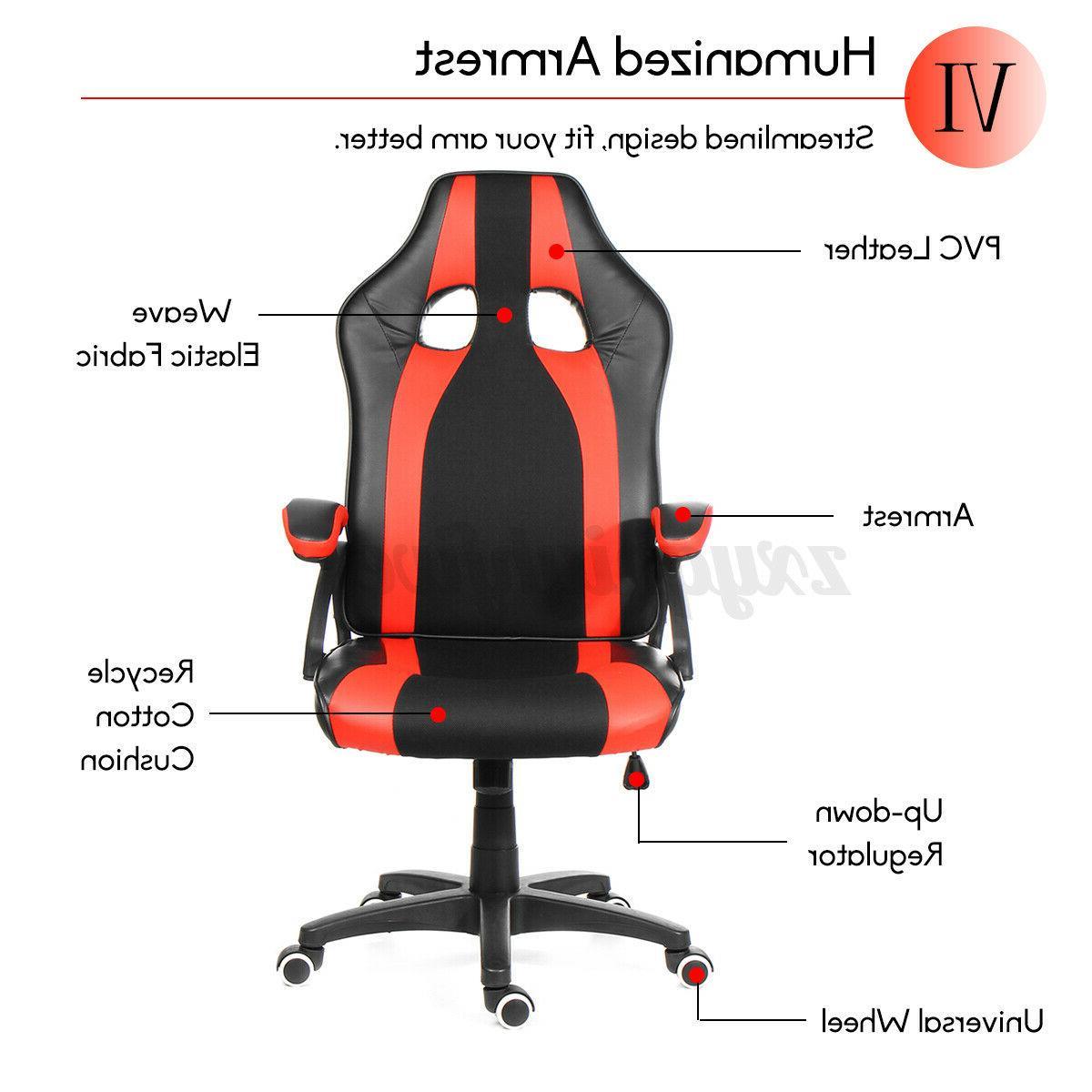 High Back Chair Ergonomic Racing Gaming