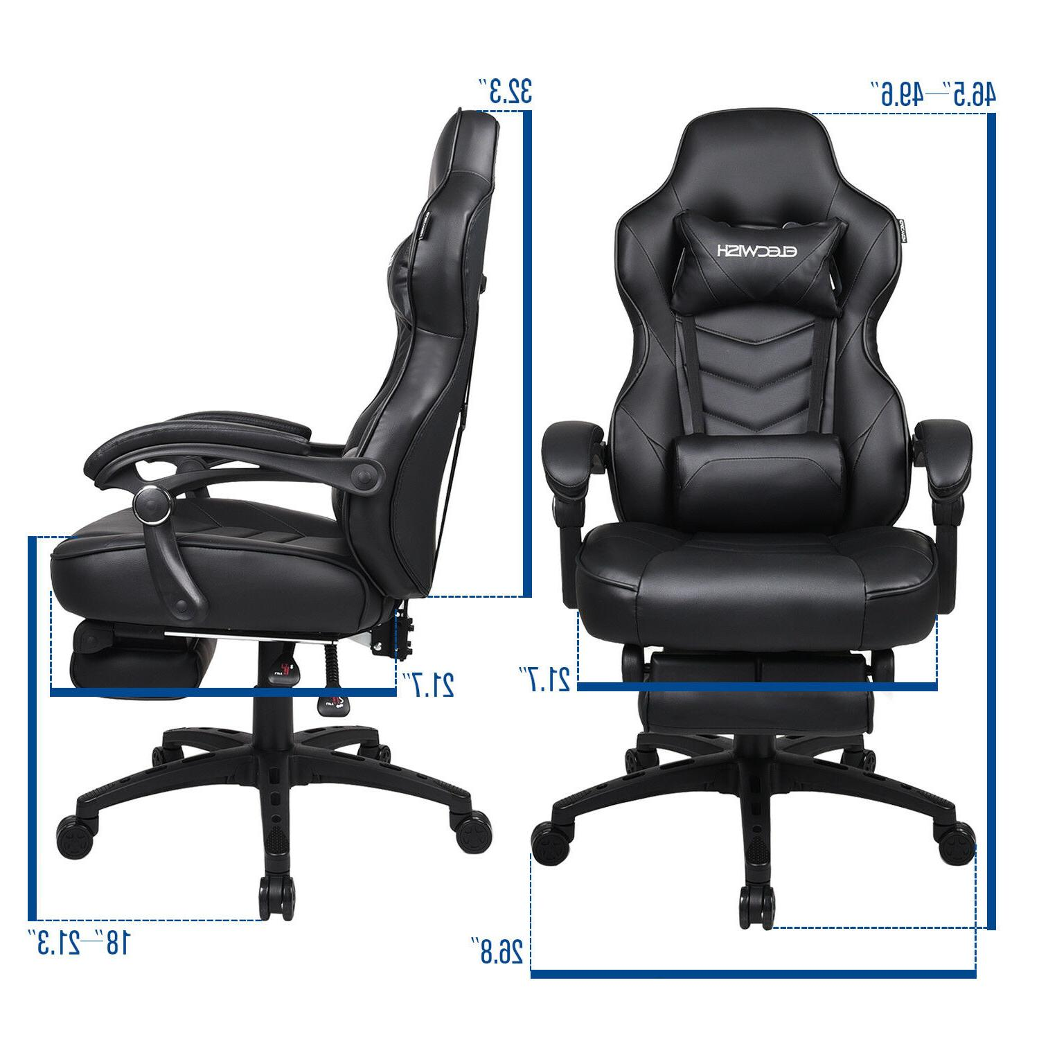 Racing Chair Leather Swivel Office Desk Seat