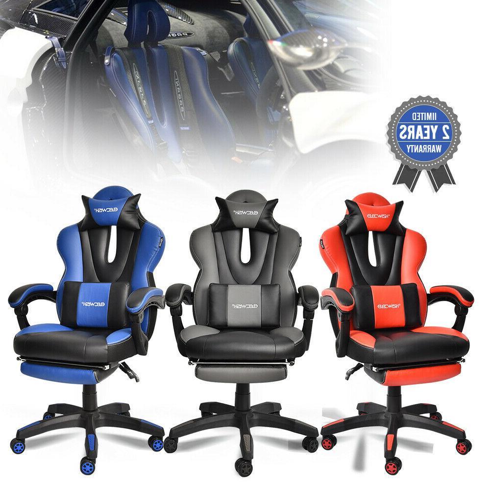 Ergonomic Racing Car Swivel Gaming Office Chair Recliner Buc
