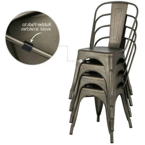 Iron Stackable Chairs Chairs with Back of