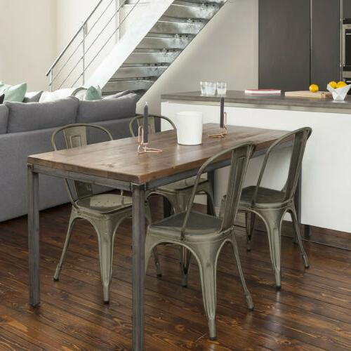 Iron Metal Dining Chair Stackable Side Bar Chairs with of
