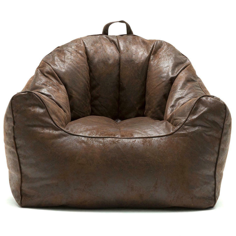 Big Joe Large Hug Bean Bag Chair Double Zippers Espresso Com