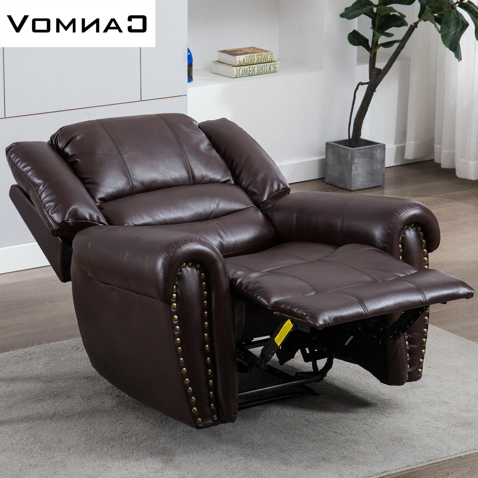 Leather Chair Overstuffed Backrest