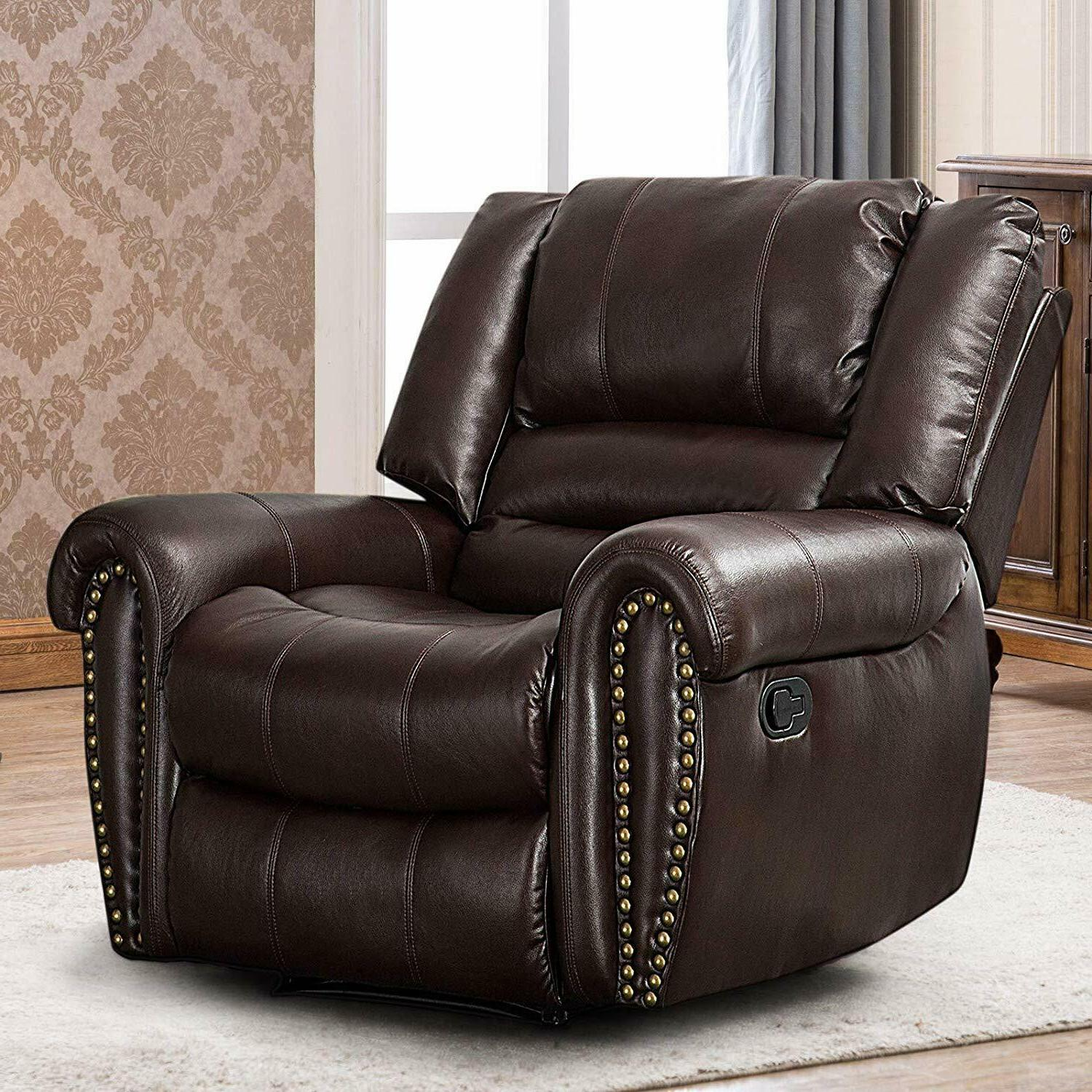 leather recliner chair traditional living room lounge