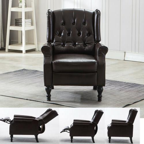 Leather Recliner Chair Accent Club Living Room Seat