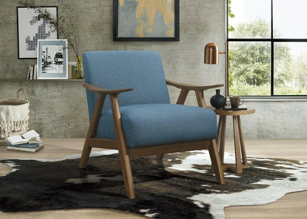 lexicon fabric upholstered accent chair blue