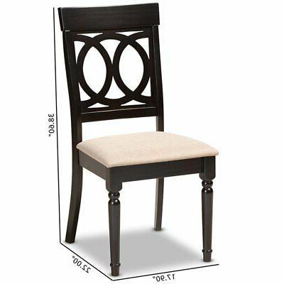 Baxton Lucie Espresso Wood Dining Chair