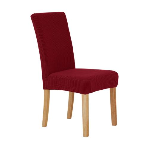 Deconovo Luxurious Stretch Dining Chair Covers Plush Short C