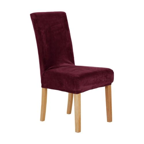 Deconovo Luxury Soft Velvet Stretch Dining Chair Covers Shor