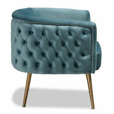 Baxton Marcelle Light Blue Chair