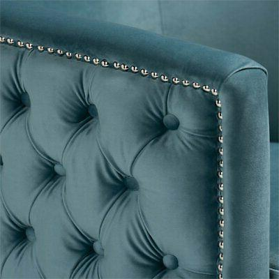 Baxton Marcelle Light Blue Velvet Chair