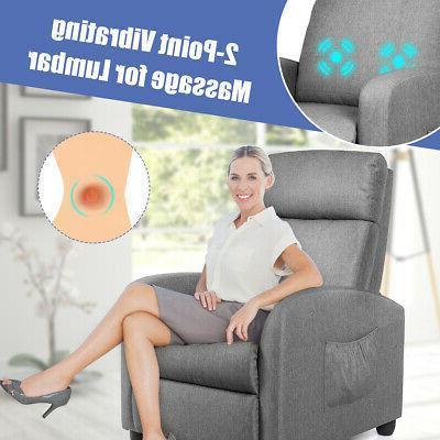 Massage Recliner Single Sofa Theater Footrest