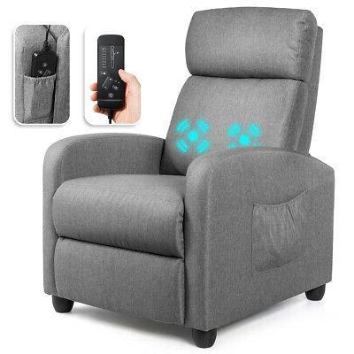 massage recliner chair single sofa fabric padded