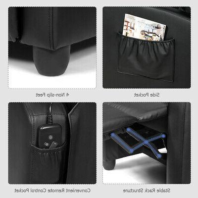 Massage Recliner Sofa Seat w/ Footrest