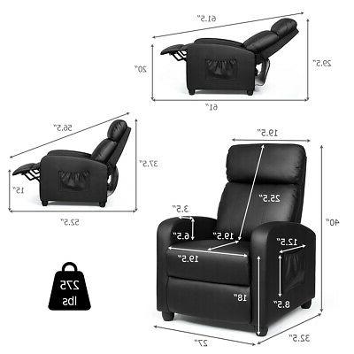 Massage Recliner Single Sofa Seat w/