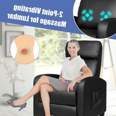 Massage Recliner Chair Sofa PU Padded Seat w/