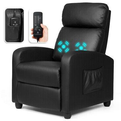 massage recliner chair single sofa pu leather