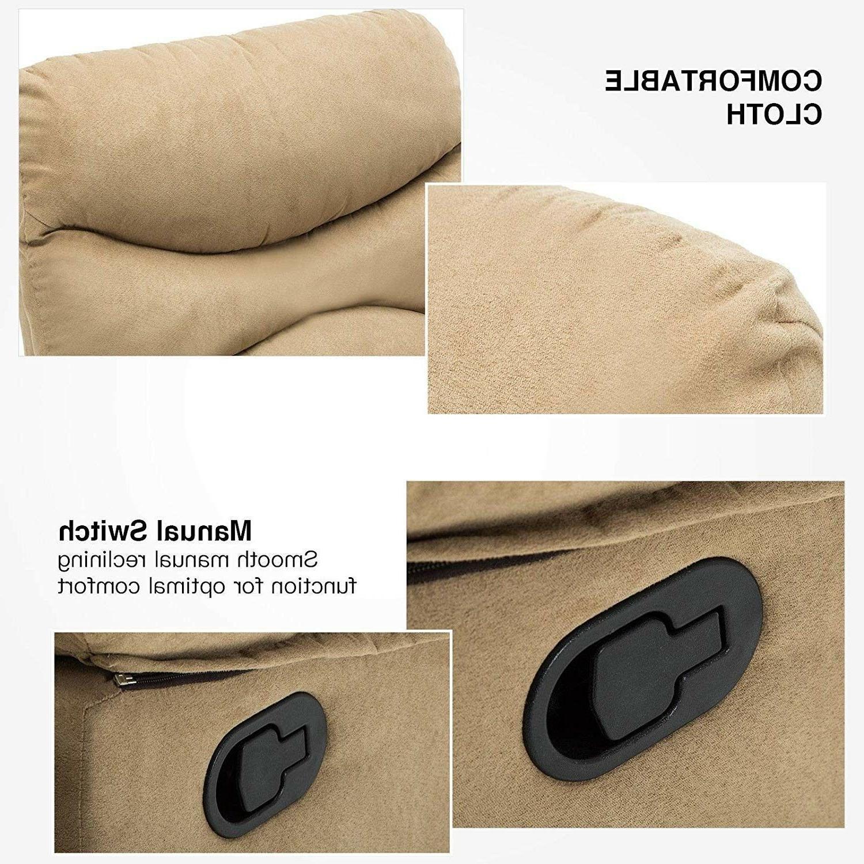 Massage Recliner Sofa Microfiber Lounge Swivel Heated w/Control
