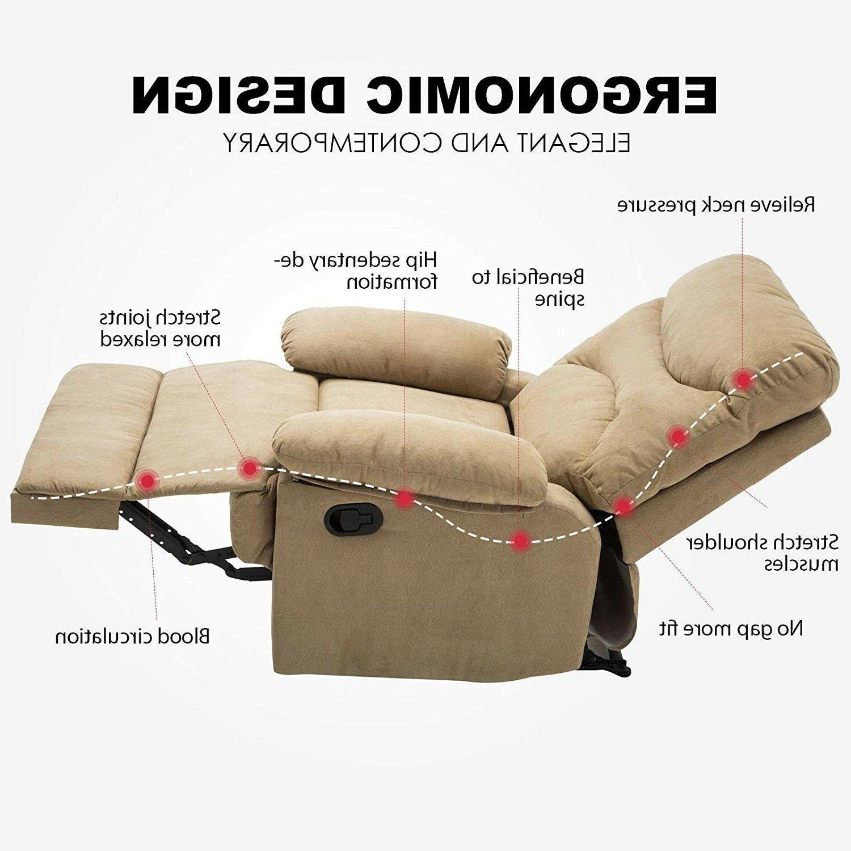Massage Recliner Chair Microfiber Heated w/Control