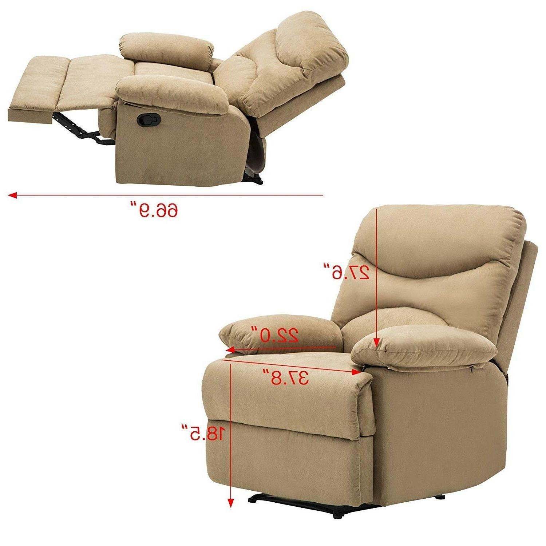 Massage Recliner Microfiber Heated w/Control