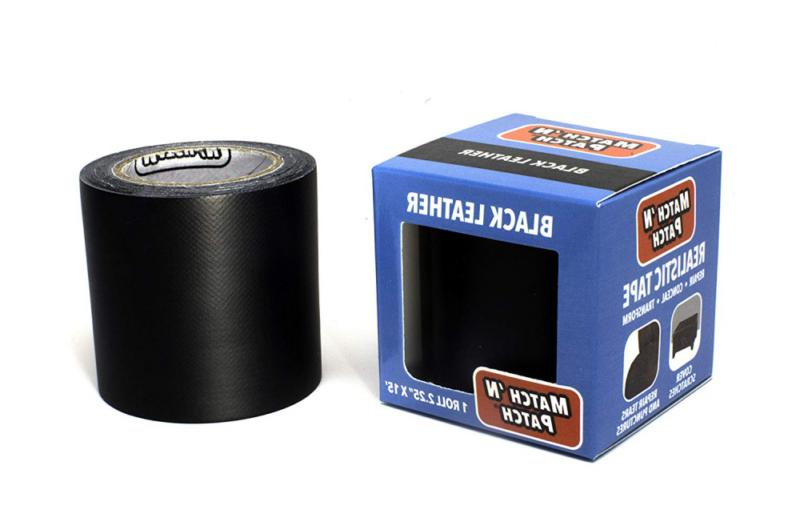 match n patch realistic black leather tape
