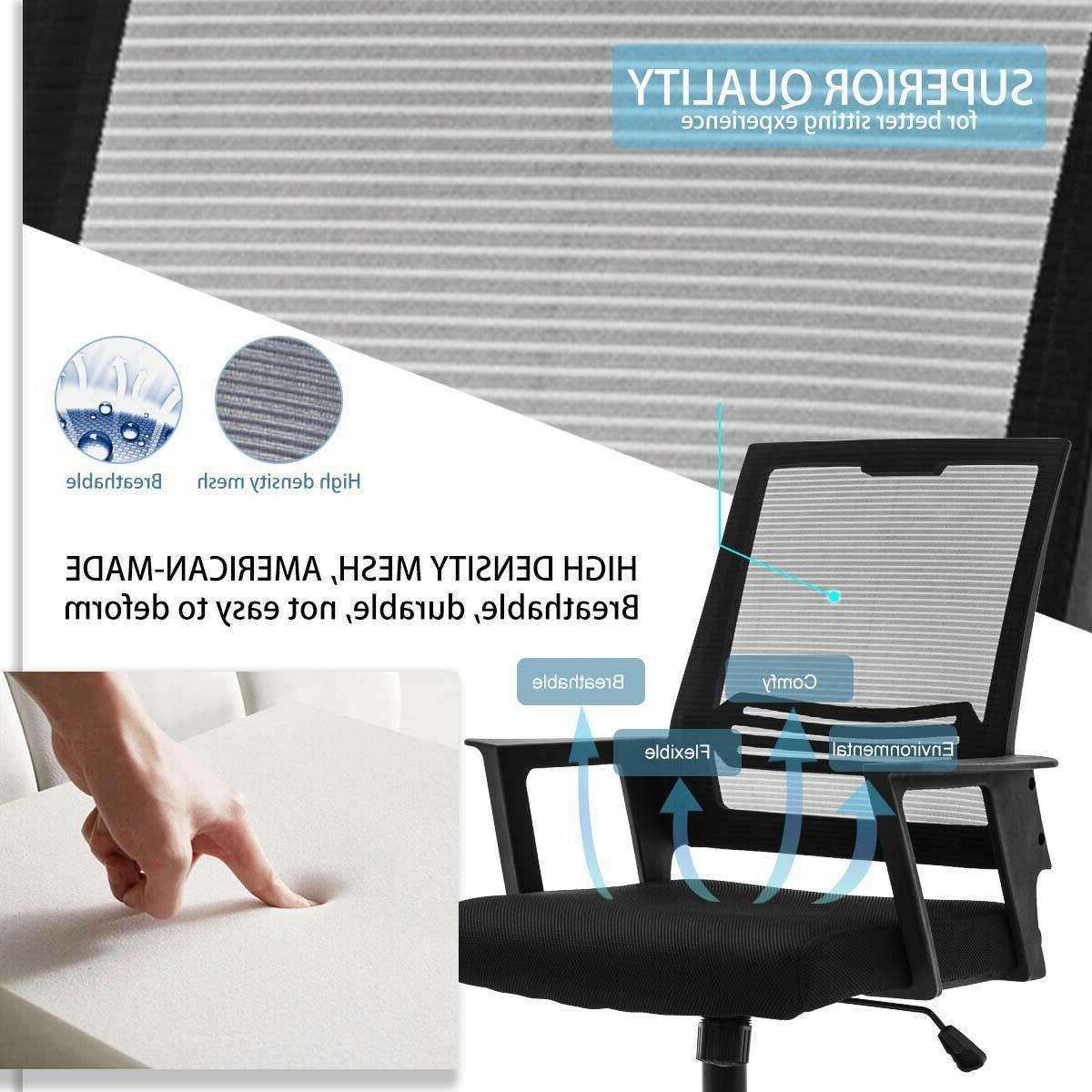 Mesh Mid Back Adjustable Ergonomic Desk Task Chairs
