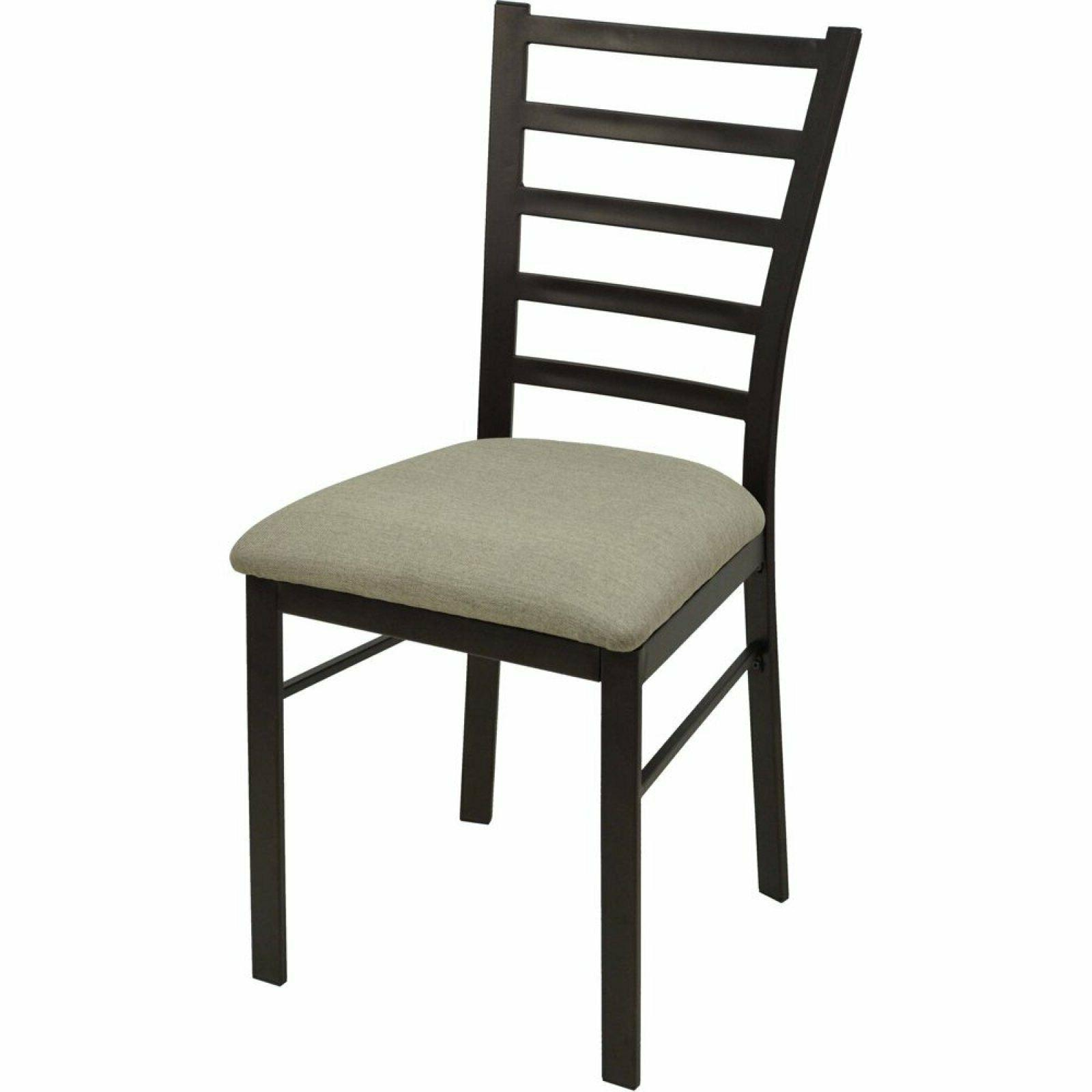 METAL DINING CHAIR Oil Rubbed Bronze Finish Padded Seat Cush