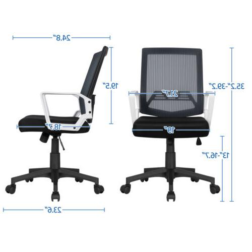 Mid-Back Mesh Chair Executive Computer Desk