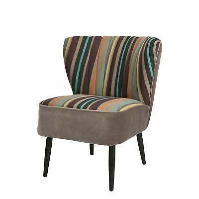Safavieh Mid-Century Rainbow Striped Accent Chair Multi Casu