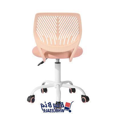 Midback Chair Rose Plastic Kids Desk Comupter Room