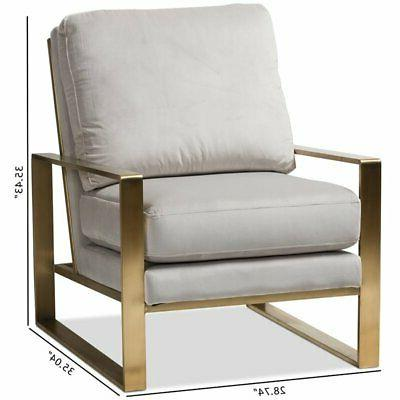 Baxton Studio Velvet Fabric Lounge Grey Gold