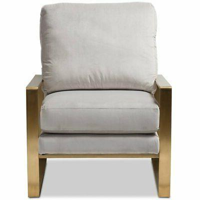 Baxton Studio Fabric Grey and Gold