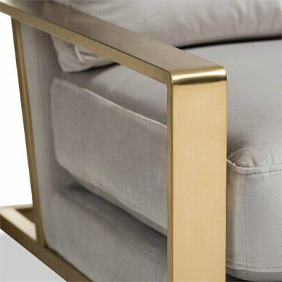 Baxton Studio Mietta Fabric Lounge Grey and