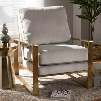 Fabric Chair Grey Gold