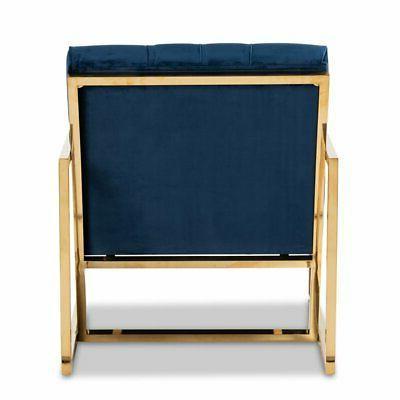 Velvet Gold Finished Lounge