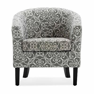 Modern Barrel Fabric Armchair Accent Living
