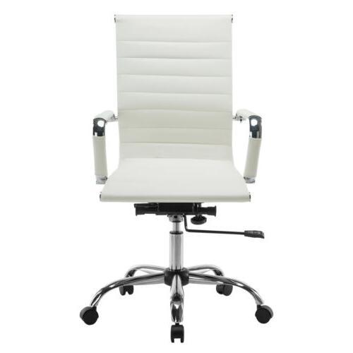 Ergonomic High Chair Desk White
