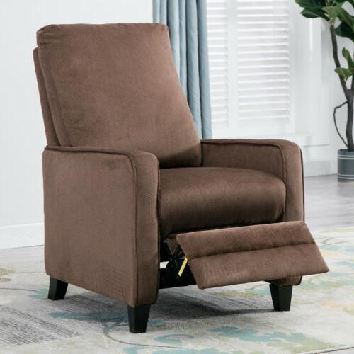 Manual Recliner Sofa Chair Linen Track Arm Push Back Living