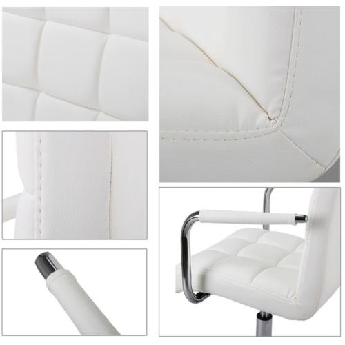 Executive Office PU Leather Computer Task White