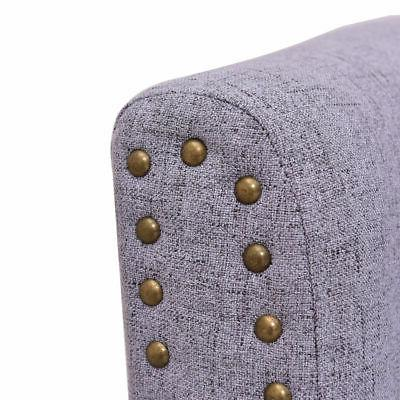 Modern Club Seat chair Fabric Nailhead w/
