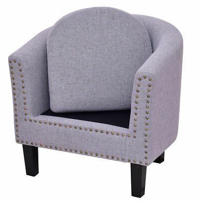 Seat Arm chair Fabric Nailhead w/ Gray