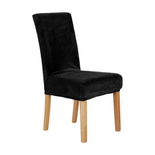 Deconovo Modern Velvet Stretch Chair Covers Washable Removab
