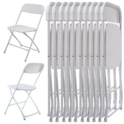 new set of 10 plastic folding chairs