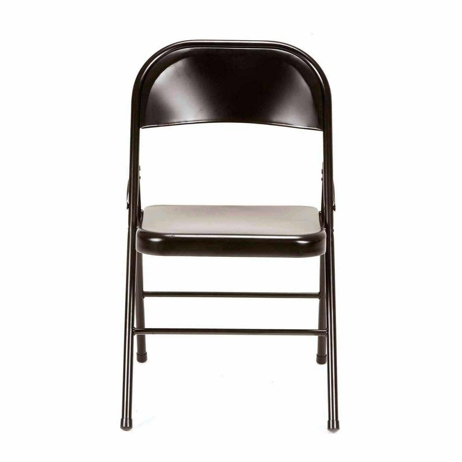 Black Steel Durable Folding Chair Armless  Party Events Comm