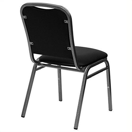 Flash Stacking Banquet Chair in Black - Vein