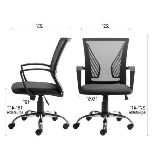 Office Chair Computer Desk Adjustable Swivel Mesh