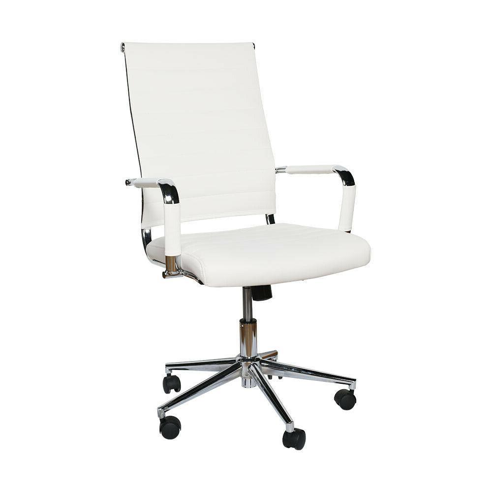 Office High PU Rolling Swivel White