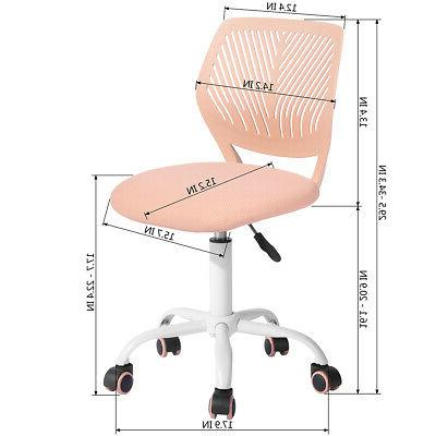 Midback Office Chair Swivel Rose Room