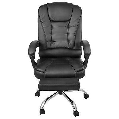 Executive Office Gaming Leather Recliner Footrest