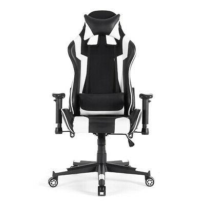 Racing Gaming Leather Swivel Office Desk